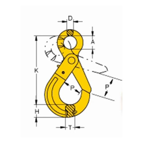 Gr8 Eye Latchlok Hook drawing