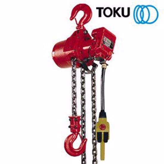 0007206 air allied sales toku tcr3000pe 3000kg air chain hoist cw load limiter 550